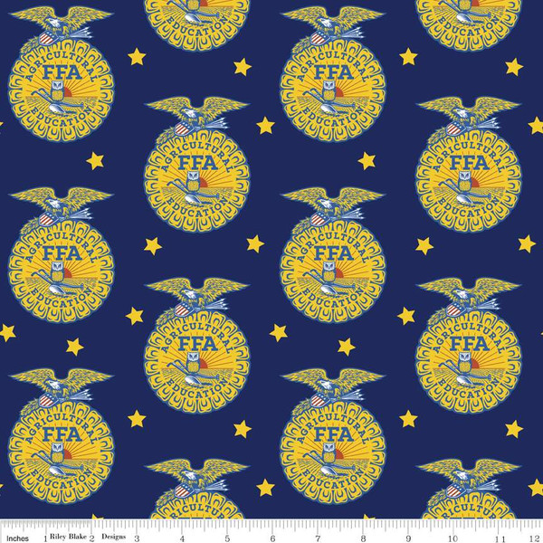 Ffa 174 Forever Blue 174 Emblem Blue Riley Blake Designs