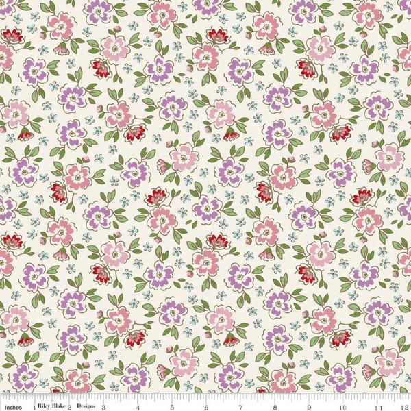 mon beau jardin meadow cream riley blake designs. Black Bedroom Furniture Sets. Home Design Ideas