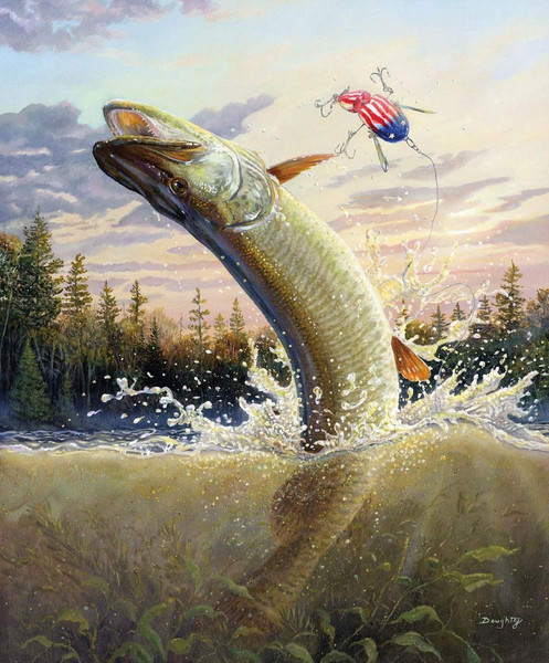 Fish Amp Fowl Leap Of Freedom Panel Riley Blake Designs