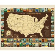 National Parks Poster Panel USA Map | Riley Blake Designs