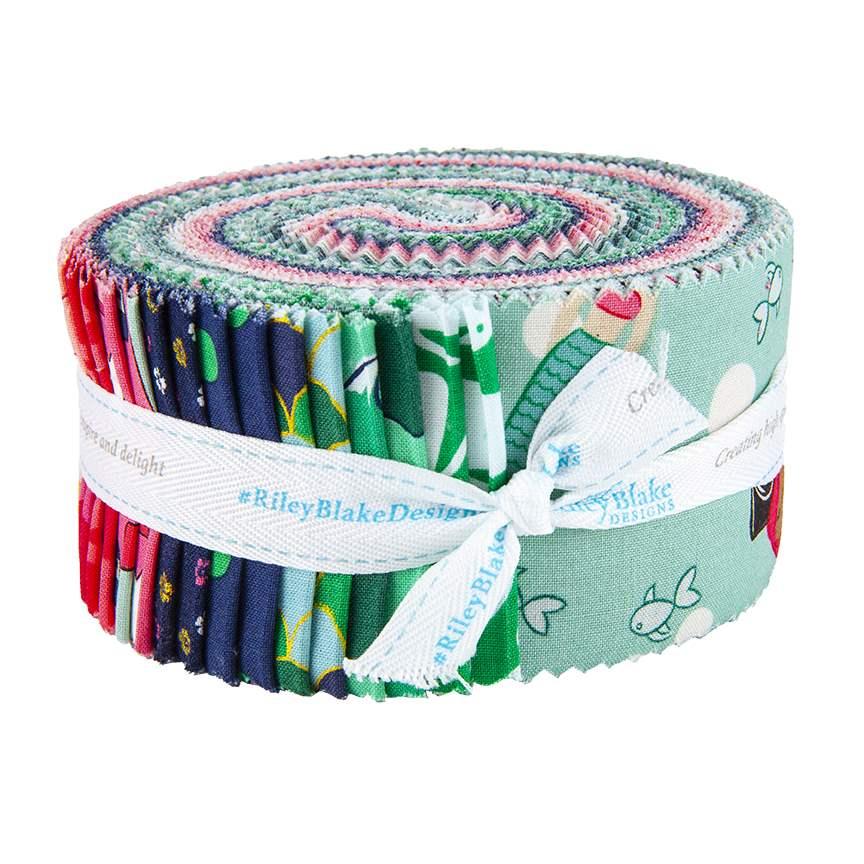 Just Dreamy 2 by My Mind/'s Eye for Riley Blake 18 Professionally Precut 2.5\u201d X 44\u201d Stripes ROLIE POLIE #RP-4130-18 Jelly Roll