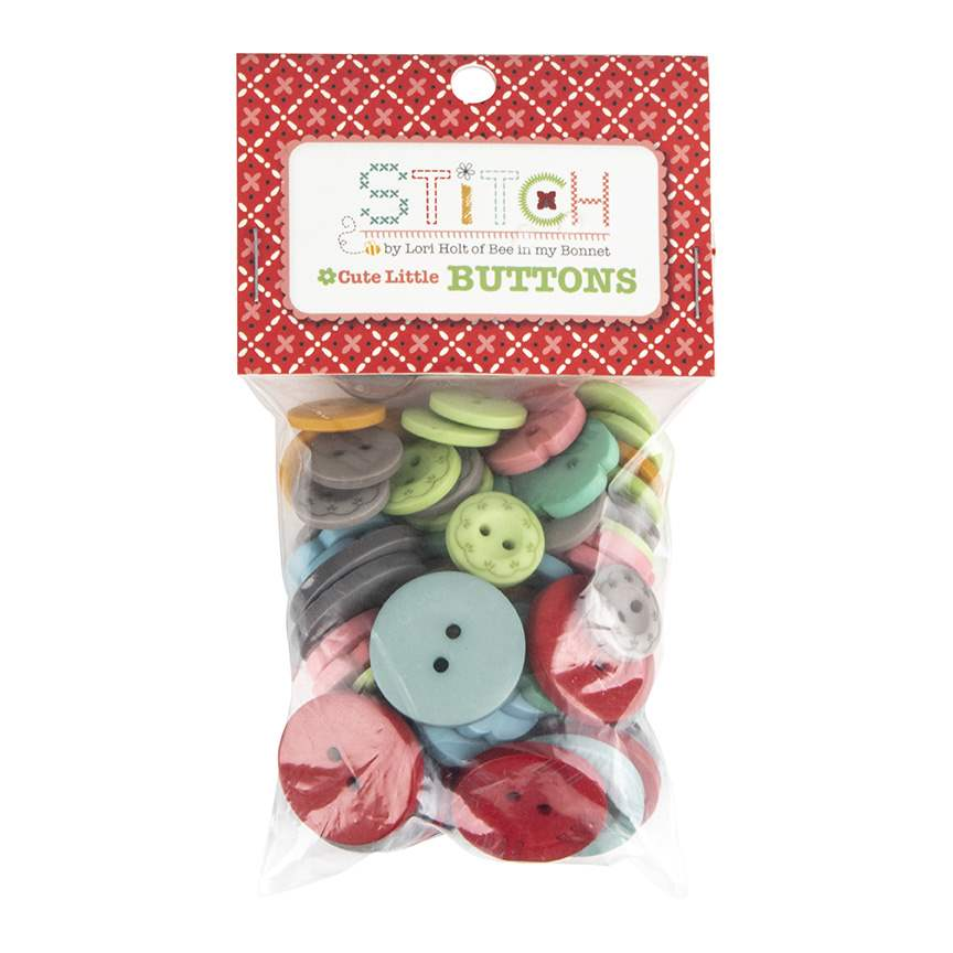 set of 4 buttons Riley Blake Sew Together buttons Lime Green Chevron 1 inch buttons round