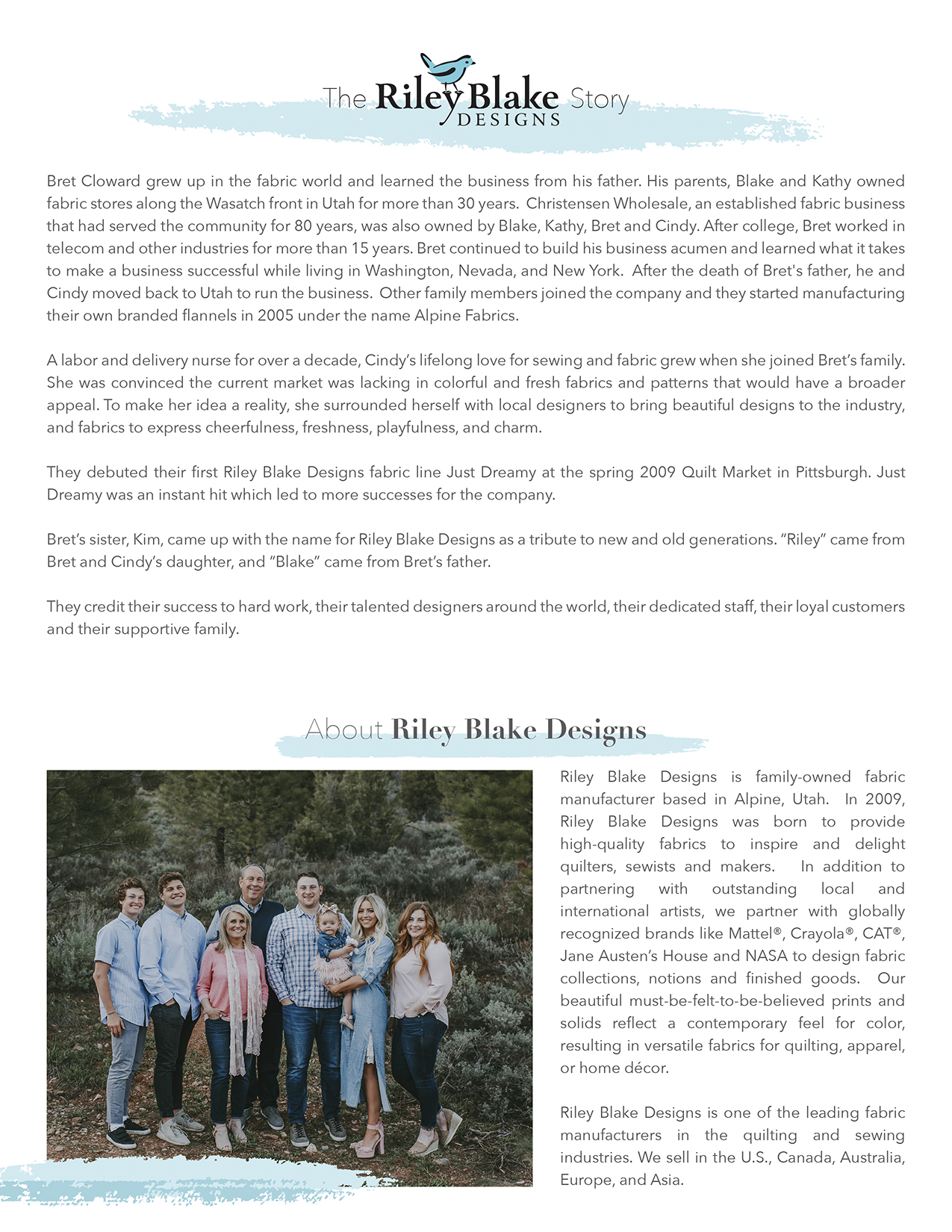 The Riley Blake Designs Story