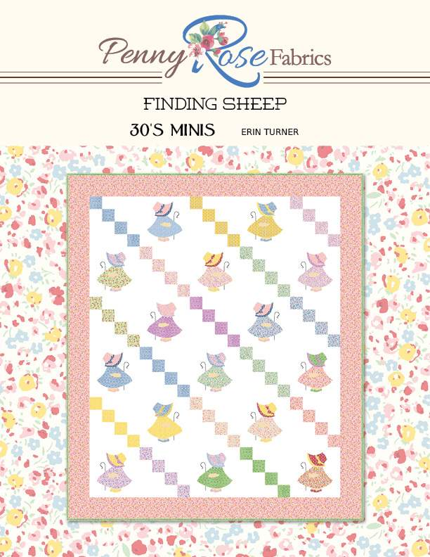 """Finding Sheep"" Free Appliqué Quilt Block Pattern designed by Erin Turner from Riley Blake Designs"