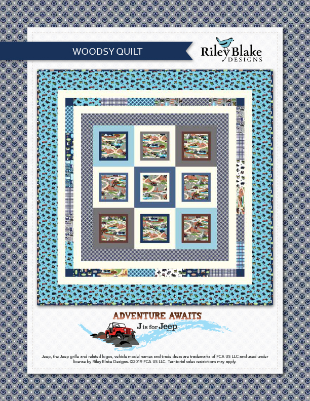 """Woodsy Quilt"" Free Easy to Sew Quilt Pattern designed & from Riley Blake Designs"