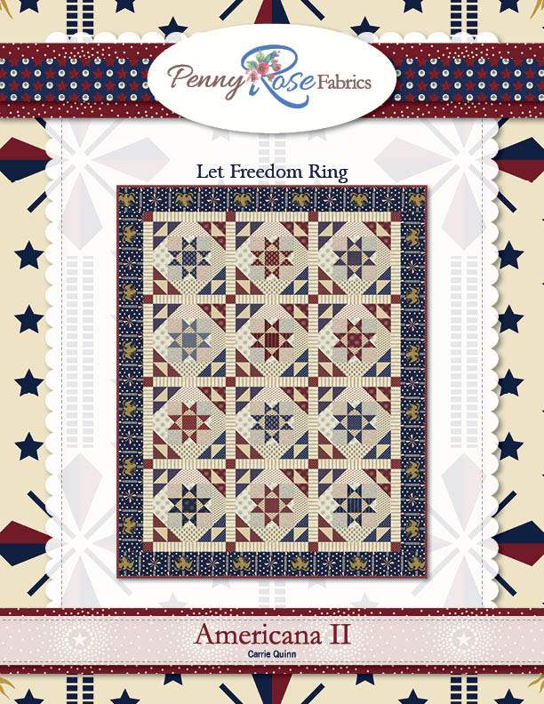 """Let Freedom Ring"" Free Patriotic Quilt Pattern designed by Carrie Quinn from Riley Blake Designs"