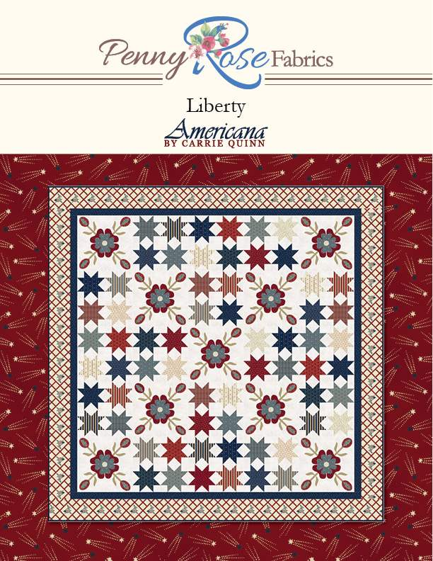 """Liberty"" Free Patriotic Quilt Pattern designed by Carrie Quinn from Riley Blake Designs"