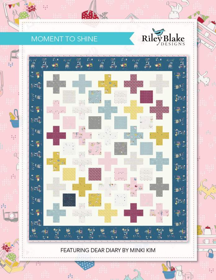 """Moment to Shine"" Free Easy to Sew Quilt Pattern designed & from Riley Blake Designs"