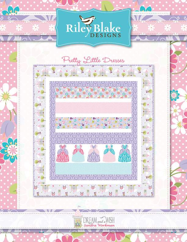 """""""Pink Dresses"""" a Free Baby Quilt Pattern designed & from Riley Blake Designs"""