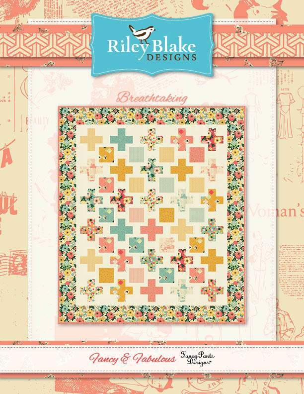 """Breathtaking"" Free Easy to Sew Quilt Pattern designed by Fancy Pants Designs from Riley Blake Designs"