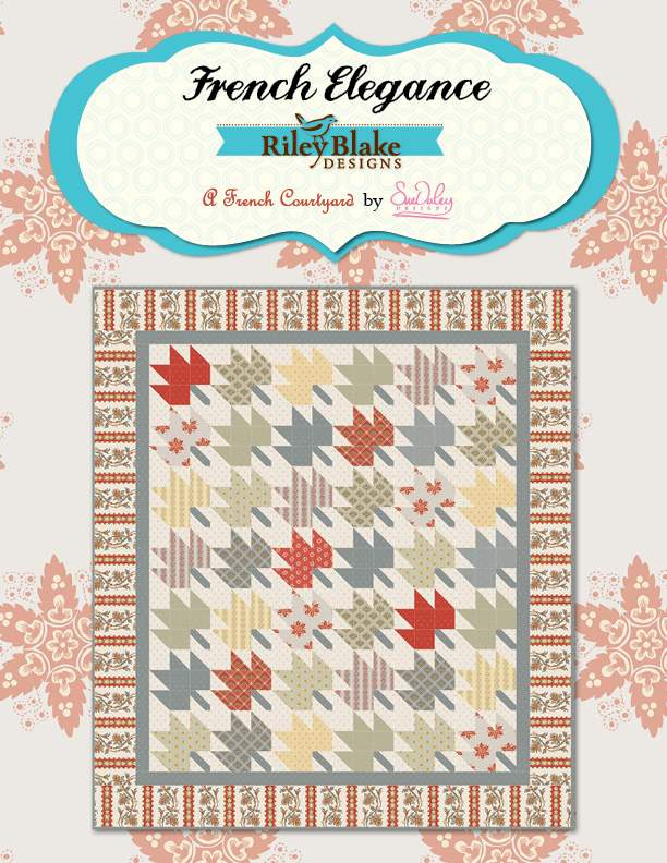 """""""French Elegance"""" Free Autumn Quilt Pattern designed by Sue Daley Designs from Riley Blake Designs"""