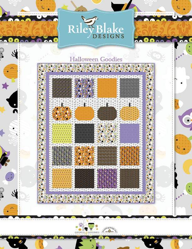 """Halloween Goodies"" Free Halloween Quilt Pattern designed by Doodlebug Design Inc. from Riley Blake Designs"