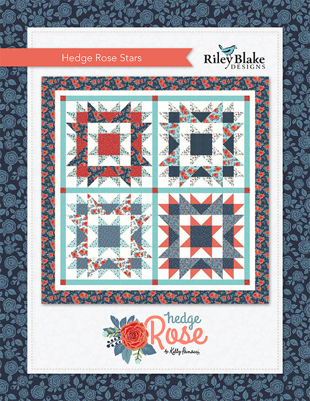 Rose Dream Quilt Block.Free Quilts Patterns Riley Blake Designs