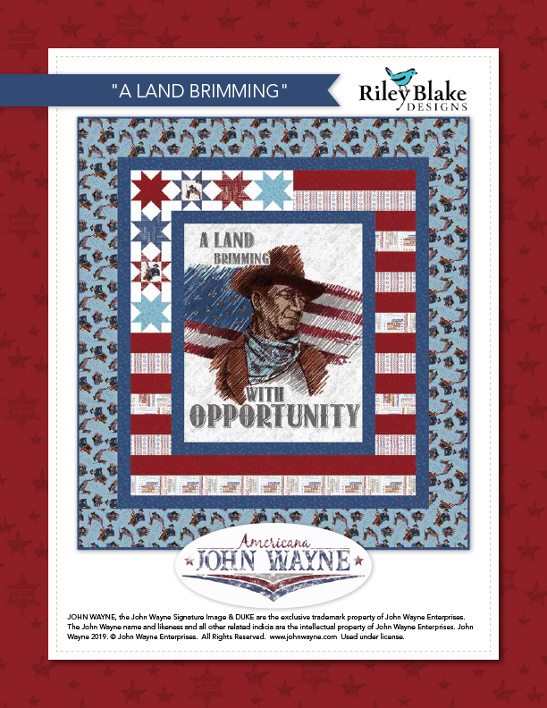 """A Land Brimming with Opportunity"" a Free Quilts of Valor Pattern designed & from Riley Blake Designs"