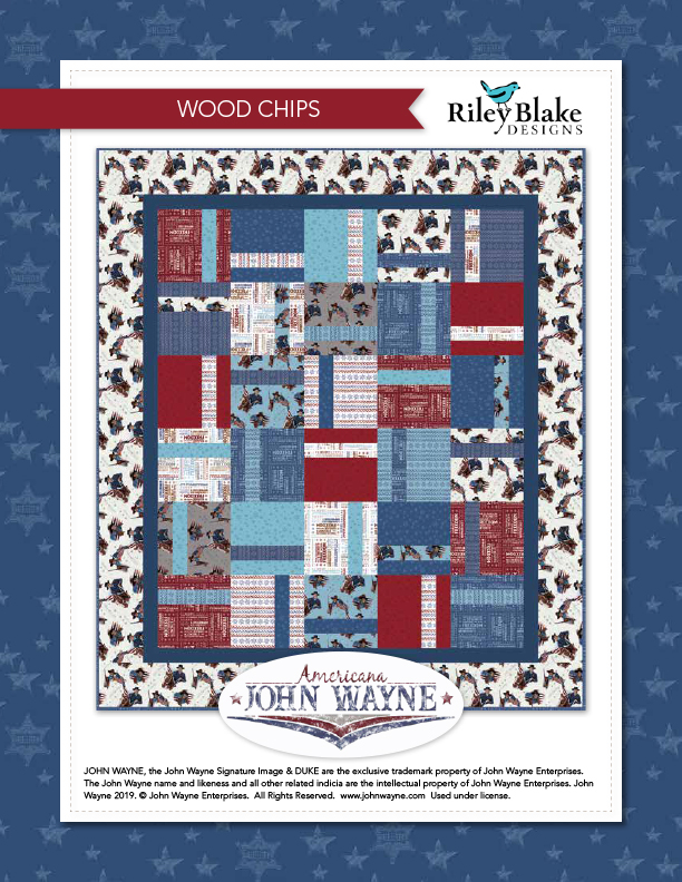 """Wood Chips"" a Free Quilts of Valor Pattern designed & from Riley Blake Designs"