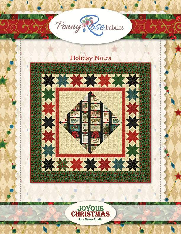 Holiday Notes Quilt Joyous Christmas