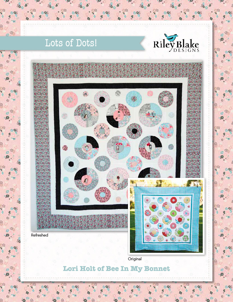 """Lots of Dots"" Free Appliqué Quilt Block Pattern designed by Lori Holt of Bee in my Bonnet from Riley Blake Designs"