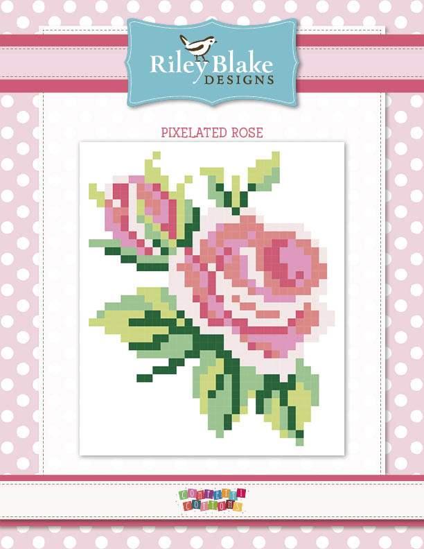 Free Quilts Patterns Riley Blake Designs Gorgeous Rose Quilt Pattern
