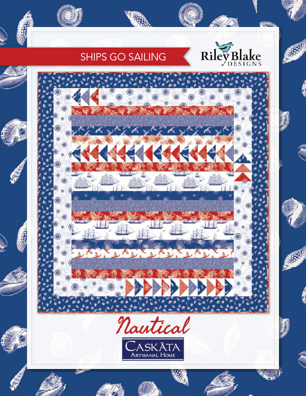 """Ships Go Sailing"" a Free Quilts of Valor Pattern designed & from Riley Blake Designs"