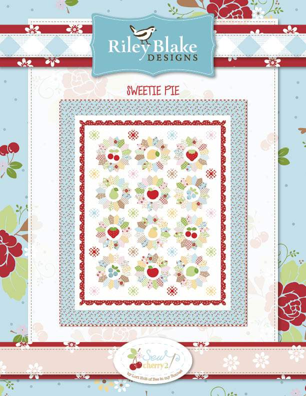 """Sweetie Pie Quilt Sew Along Guide"" Free Appliqué Quilt Block Pattern designed by Lori Holt of Bee in my Bonnet from Riley Blake Designs"