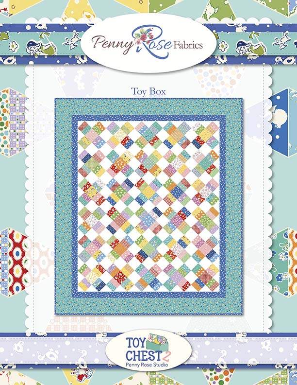 """""""Toy Box"""" a Free Baby Quilt Pattern designed & from Riley Blake Designs"""