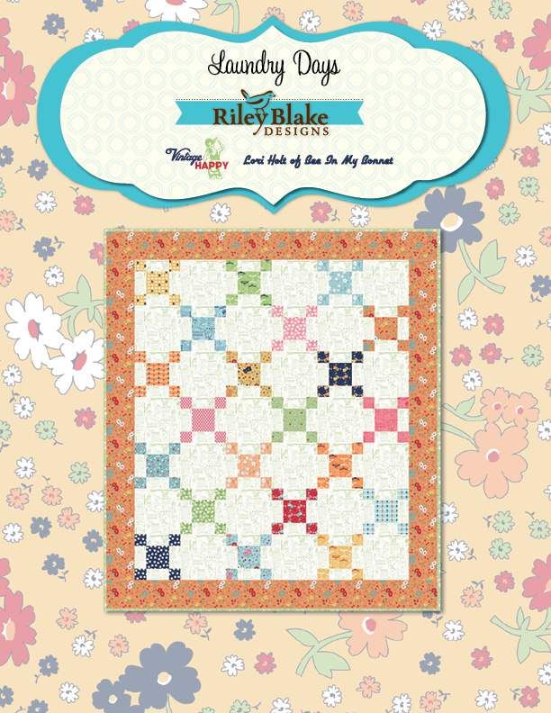 """Laundry Days"" Free Easy to Sew Quilt Pattern designed by Lori Holt of Bee in my Bonnet from Riley Blake Designs"