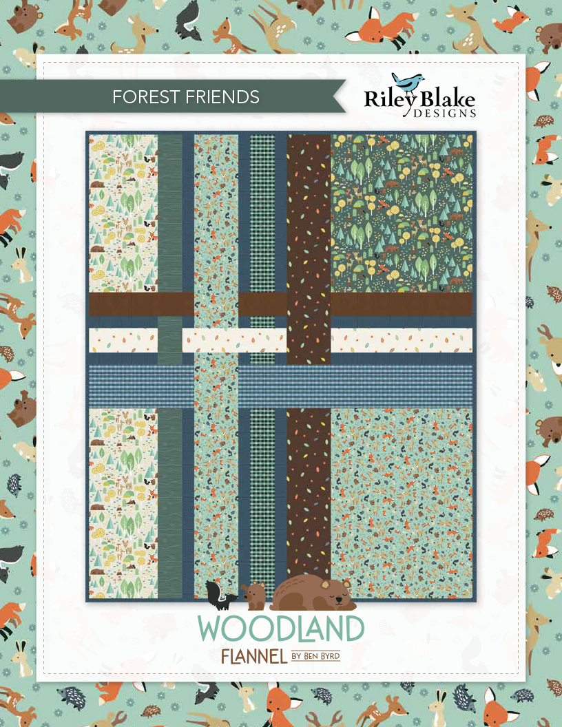 """""""Forest Friends"""" a Free Flannel Quilt Pattern designed by & from Riley Blake Designs"""