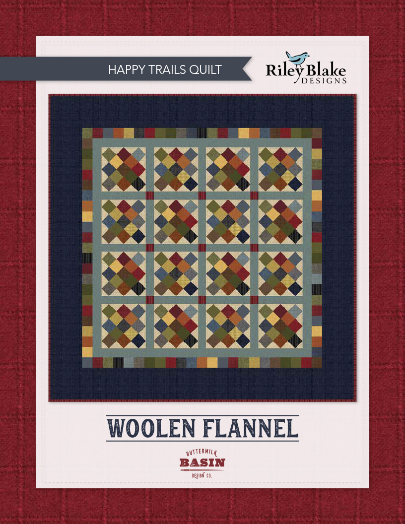 """""""Happy Trails"""" a Free Flannel Quilt Pattern designed by & from Riley Blake Designs"""