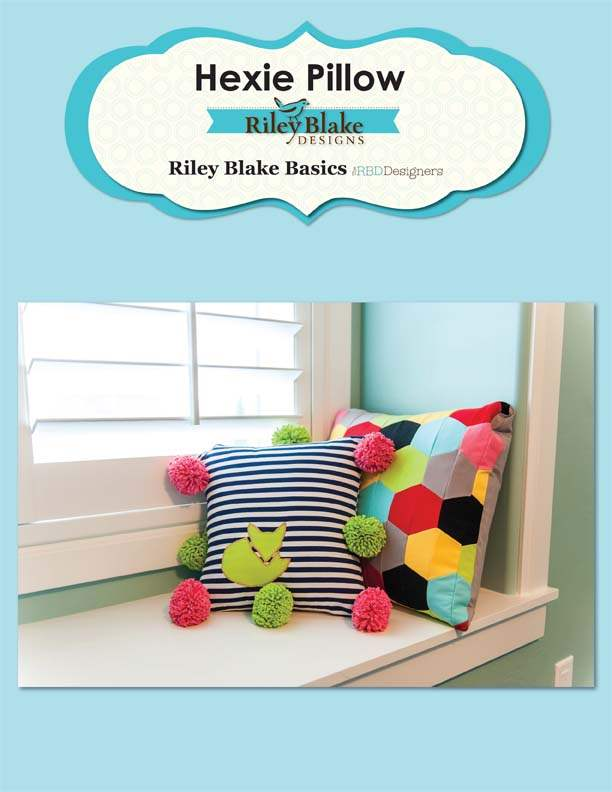 """Hexie Pillow"" Free Pattern designed by the RBD Designers from Riley Blake Designs"