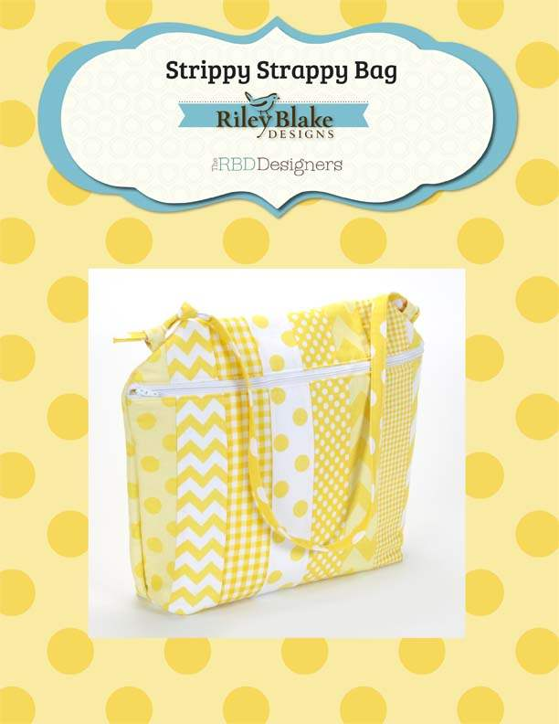 """Strippy Scrappy Bag"" Free Pattern designed by The RBD Designers from Riley Blake Designs"